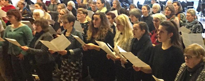 Kvindekorstævne i Aarhus med Birgitte Næslund Madsen